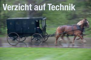 Kutsche der Amish als Symbol für Verzicht auf Technik