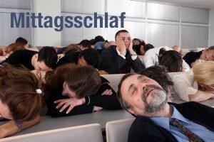 Mittagsschlaf in der Präsentation