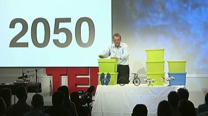 Hans Rosling bei Präsentation zur Bevölkerungsentwicklung