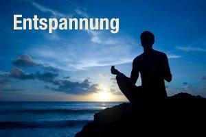 Meditation bei Sonnenuntergang