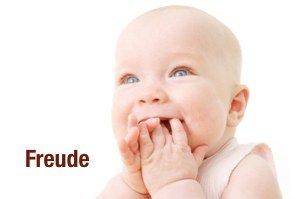 """Baby mit Schriftzug """"Freude"""""""