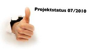 """Folie mit der Überschrift """"Projektstatus 07/2010"""""""