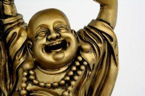 Bild von einem glücklichen Buddha
