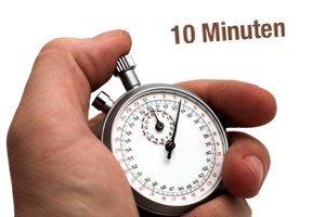 """Stoppuhr mit Beschriftung """"10 Minuten"""""""