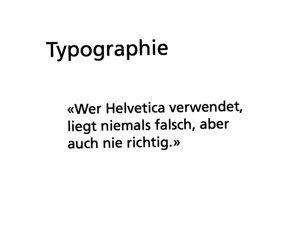 Typographie und Helvetica